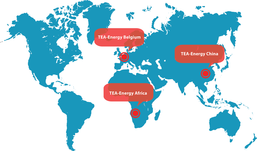 TEA-Energy on 3 continents